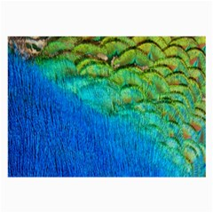 Blue Peacock Feathers Large Glasses Cloth by AnjaniArt
