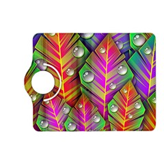Bubbles Colorful Leaves Kindle Fire Hd (2013) Flip 360 Case by AnjaniArt