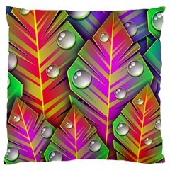 Bubbles Colorful Leaves Standard Flano Cushion Case (one Side) by AnjaniArt