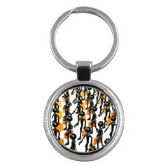Business Men Marching Concept Key Chains (round)  by AnjaniArt