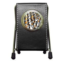 Business Men Marching Concept Pen Holder Desk Clocks by AnjaniArt