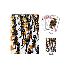 Business Men Marching Concept Playing Cards (mini)  by AnjaniArt