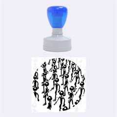 Business Men Marching Concept Rubber Round Stamps (medium) by AnjaniArt