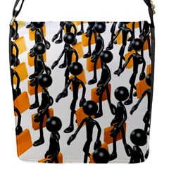 Business Men Marching Concept Flap Messenger Bag (s) by AnjaniArt