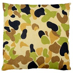 Camouflage Pattern Army Large Cushion Case (one Side) by AnjaniArt
