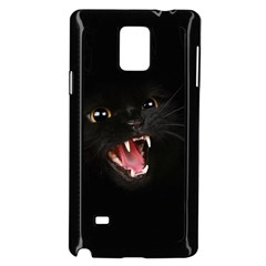 Cat Animal Cute Samsung Galaxy Note 4 Case (black) by AnjaniArt