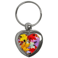 Coloorfull Leave Key Chains (heart)  by AnjaniArt
