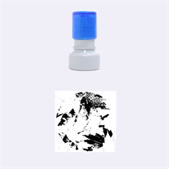 Coloorfull Leave Rubber Round Stamps (small) by AnjaniArt