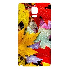 Coloorfull Leave Galaxy Note 4 Back Case by AnjaniArt