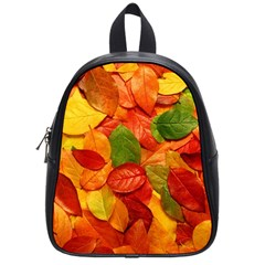Colorful Fall Leaves School Bags (small)  by AnjaniArt