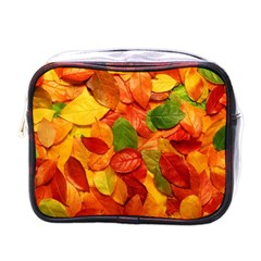 Colorful Fall Leaves Mini Toiletries Bags by AnjaniArt