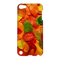 Colorful Fall Leaves Apple Ipod Touch 5 Hardshell Case by AnjaniArt
