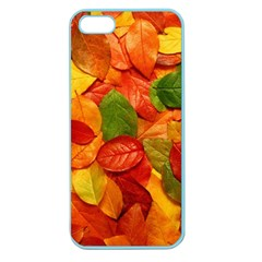 Colorful Fall Leaves Apple Seamless Iphone 5 Case (color) by AnjaniArt