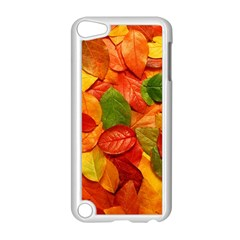 Colorful Fall Leaves Apple iPod Touch 5 Case (White) by AnjaniArt