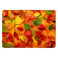 Colorful Fall Leaves Samsung Galaxy Tab 10 1  P7500 Flip Case by AnjaniArt