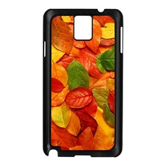 Colorful Fall Leaves Samsung Galaxy Note 3 N9005 Case (black) by AnjaniArt