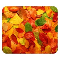 Colorful Fall Leaves Double Sided Flano Blanket (small)  by AnjaniArt