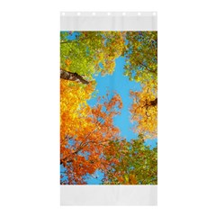 Colorful Leaves Sky Shower Curtain 36  X 72  (stall)  by AnjaniArt
