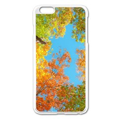 Colorful Leaves Sky Apple Iphone 6 Plus/6s Plus Enamel White Case by AnjaniArt