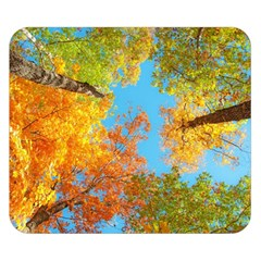 Colorful Leaves Sky Double Sided Flano Blanket (small)  by AnjaniArt