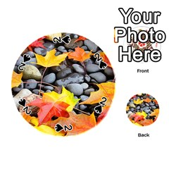 Colorful Leaves Stones Playing Cards 54 (round)  by AnjaniArt