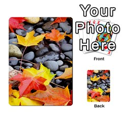Colorful Leaves Stones Multi Purpose Cards (rectangle)  by AnjaniArt