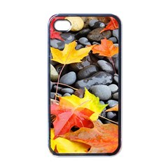 Colorful Leaves Stones Apple Iphone 4 Case (black) by AnjaniArt
