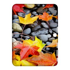 Colorful Leaves Stones Samsung Galaxy Tab 4 (10 1 ) Hardshell Case  by AnjaniArt