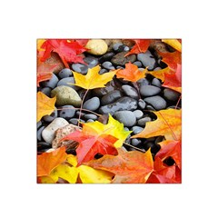 Colorful Leaves Stones Satin Bandana Scarf by AnjaniArt