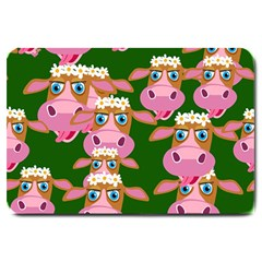 Cow Pattern Large Doormat  by AnjaniArt