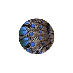 Feathers Peacock Light Golf Ball Marker by AnjaniArt