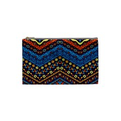 Cute Hand Drawn Ethnic Pattern Cosmetic Bag (small)  by AnjaniArt
