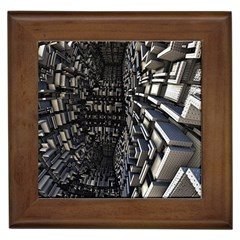 Fractal Art Pattern Framed Tiles by AnjaniArt