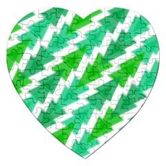 Geometric Art Pattern Jigsaw Puzzle (heart) by AnjaniArt