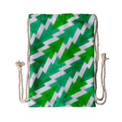 Geometric Art Pattern Drawstring Bag (small) by AnjaniArt