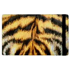 Tiger Fur Painting Apple Ipad 2 Flip Case by AnjaniArt