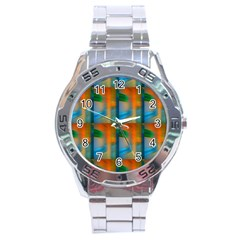 Wall Of Colour Duplication Stainless Steel Analogue Watch by AnjaniArt