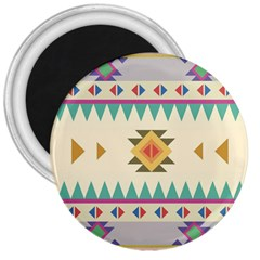 Your First Aztec Pattern 3  Magnets