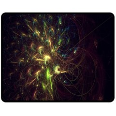 Fractal Flame Light Energy Double Sided Fleece Blanket (Medium)  by Zeze