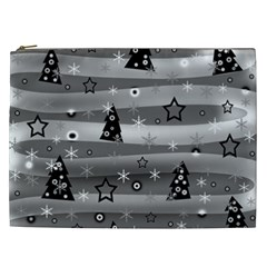 Gray Xmas Magic Cosmetic Bag (xxl)  by Valentinaart