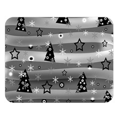 Gray Xmas Magic Double Sided Flano Blanket (large)  by Valentinaart