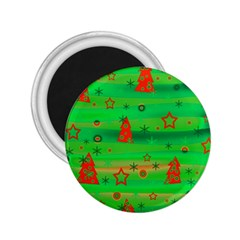 Green Xmas Magic 2 25  Magnets by Valentinaart
