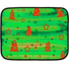 Green Xmas Magic Fleece Blanket (mini) by Valentinaart