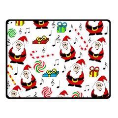 Xmas Song Double Sided Fleece Blanket (small)  by Valentinaart