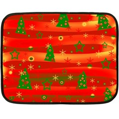 Christmas Magic Fleece Blanket (mini) by Valentinaart