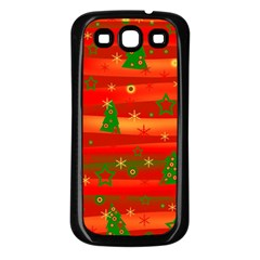 Christmas Magic Samsung Galaxy S3 Back Case (black) by Valentinaart