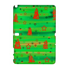 Xmas Magical Design Samsung Galaxy Note 10 1 (p600) Hardshell Case by Valentinaart
