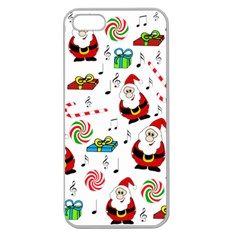 Xmas Song Apple Seamless Iphone 5 Case (clear) by Valentinaart