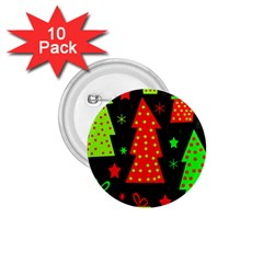 Merry Xmas 1 75  Buttons (10 Pack) by Valentinaart