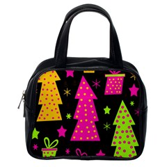 Colorful Xmas Classic Handbags (one Side) by Valentinaart